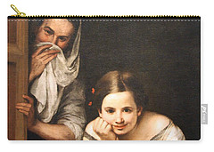 Murillo's Two Women At A Window Carry-all Pouch