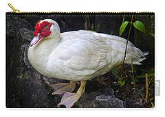 White Muscovy Duck Carry-all Pouch by Venetia Featherstone-Witty