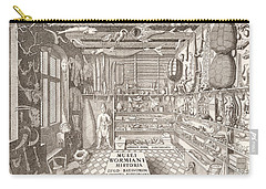 Museum Of Ole Worm, Leiden, 1655 Engraving Carry-all Pouch