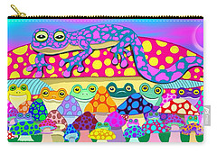 Mushroom Meadow Frogs Carry-all Pouch
