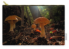 Carry-all Pouch featuring the photograph Mushroom Morning by GJ Blackman