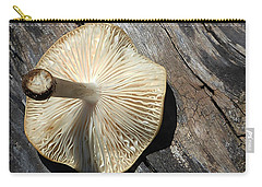 Carry-all Pouch featuring the photograph Mushroom On Stump by Tina M Wenger