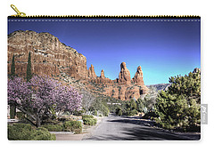 Carry-all Pouch featuring the photograph Mushroom Rock by Lynn Geoffroy