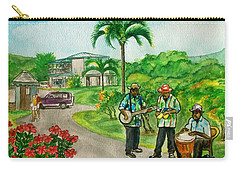 Musicians On Island Of Grenada Carry-all Pouch by Frank Hunter