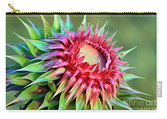 Musk Thistle Carry-all Pouch by Teresa Zieba