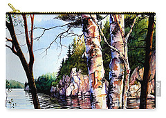 Carry-all Pouch featuring the painting Muskoka Reflections by Hanne Lore Koehler