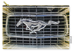 Carry-all Pouch featuring the photograph Mustang Emblem by Victor Montgomery