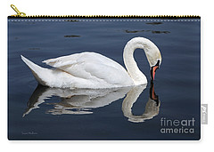Mute Swan Kissing Its Reflection Carry-all Pouch