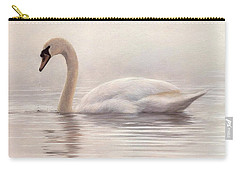 Mute Swan Painting Carry-all Pouch by Rachel Stribbling