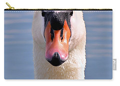 Carry-all Pouch featuring the photograph Mute Swan Staring by Susan Wiedmann