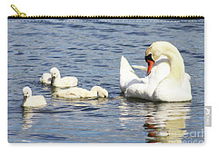 Mute Swans Carry-all Pouch by Alyce Taylor