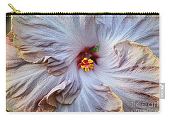 Muted Hibiscus Carry-all Pouch by Cindy Manero