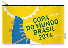 My 2014 World Cup Soccer Brazil - Rio Minimal Poster Carry-all Pouch by Chungkong Art