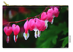Carry-all Pouch featuring the photograph My Bleeding Heart by Davandra Cribbie
