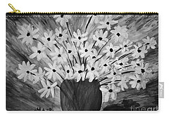 My Daisies Black And White Version Carry-all Pouch