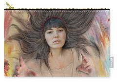My Drawing Of A Beauty Coming Alive II Carry-all Pouch