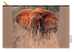 My Elephant In Africa Carry-all Pouch by Phyllis Kaltenbach