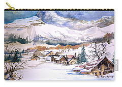 My First Snow Scene Carry-all Pouch by Alban Dizdari