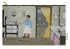 Carry-all Pouch featuring the painting Coal Miners Wife by Jeffrey Koss