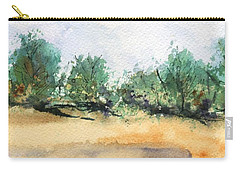 Carry-all Pouch featuring the painting My Secret Beach by Marionette Taboniar