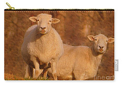 Carry-all Pouch featuring the photograph My Sheep ...   by Lydia Holly