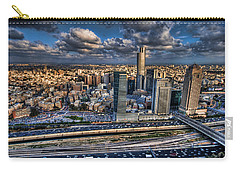 Carry-all Pouch featuring the photograph My Sim City by Ron Shoshani