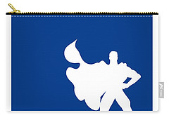 My Superhero 03 Super Blue Minimal Poster Carry-all Pouch by Chungkong Art