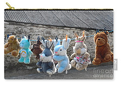 Toys On Washing Line Carry-all Pouch by Nina Ficur Feenan
