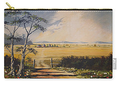 Carry-all Pouch featuring the painting My Way Home by Anthony Mwangi