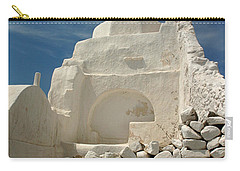 Carry-all Pouch featuring the photograph Mykonos Church by Vivian Christopher