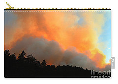 Carry-all Pouch featuring the photograph Myrtle Fire Near Rifle Pit Road by Bill Gabbert