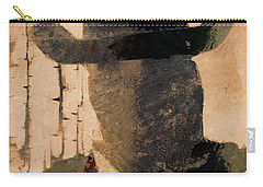 Carry-all Pouch featuring the photograph Mysterious Cowboy  by Aaron Berg