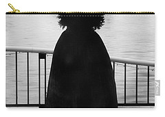 Carry-all Pouch featuring the photograph Lady At The Lake by Aaron Berg