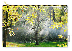 Carry-all Pouch featuring the photograph Mystical Parkland by Nina Silver