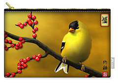 N. American Male Goldfinch Carry-all Pouch