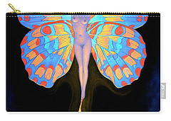 Naked Butterfly Lady Transformation Carry-all Pouch