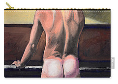 Naked Nude Male Piano Player Carry-all Pouch