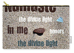 Namaste With Beach Glass And Pebble Carry-all Pouch