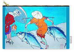 Carry-all Pouch featuring the painting Nani Wa Ryoshi O Shiawaseni Suru by Roberto Prusso