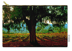 Carry-all Pouch featuring the photograph Napa Valley Ingenook Winery Roadside by Tom Jelen