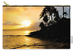 Carry-all Pouch featuring the photograph Napili Sunset Evening  by Kelly Wade