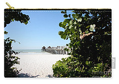 Naples Pier View Carry-all Pouch by Christiane Schulze Art And Photography