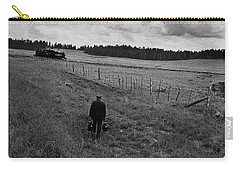 Carry-all Pouch featuring the photograph Narrow Gauge Rr Conductor Mcnary Arizona Ft. Apache Indian Reservation 1969 by David Lee Guss