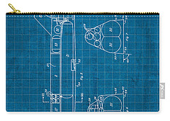 Nasa Space Shuttle Vintage Patent Diagram Blueprint Carry-all Pouch