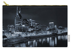 Nashville Skyline At Night Carry-all Pouch by Dan Sproul