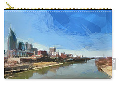 Nashville Skyline Panorama Carry-all Pouch by Dan Sproul