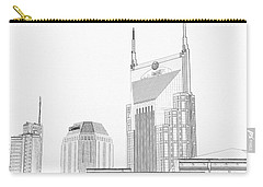 Nashville Skyline Sketch Batman Building Carry-all Pouch by Dan Sproul