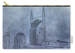 Nashville Skyline Sketch Carry-all Pouch by Dan Sproul