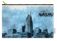 Nashville Tennessee In Blue Carry-all Pouch by Dan Sproul