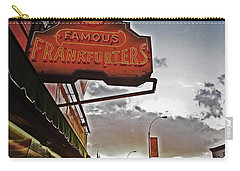Carry-all Pouch featuring the photograph Nathan's Famous Coney Island Sunset Frankfurters by Andy Prendy